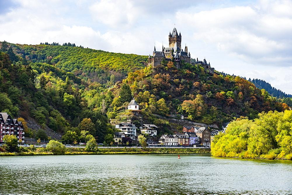 Cochem castle, Cochem, Moselle River, Rhineland-Palatinate, Germany, Europe