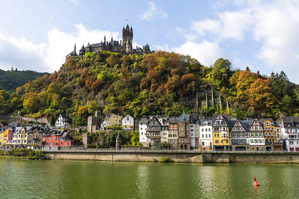Cochem town on the Moselle River, Rhineland-Palatinate, Germany, Europe