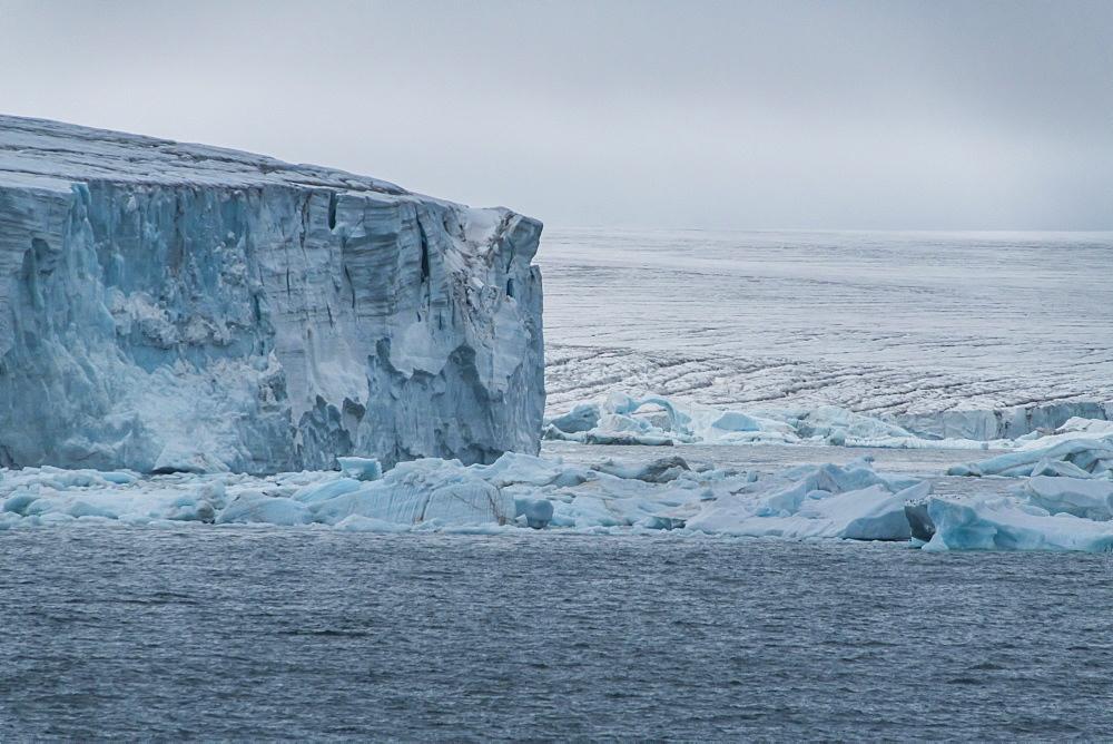 Massive icefield, Champ Island, Franz Josef Land archipelago, Arkhangelsk Oblast, Arctic, Russia, Europe