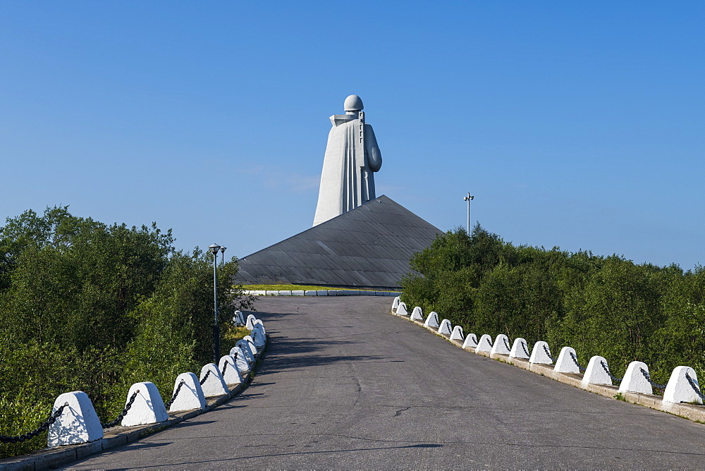 Defenders of the Soviet Arctic during the Great Patriotic War, Alyosha Monument, Murmansk, Russia, Europe