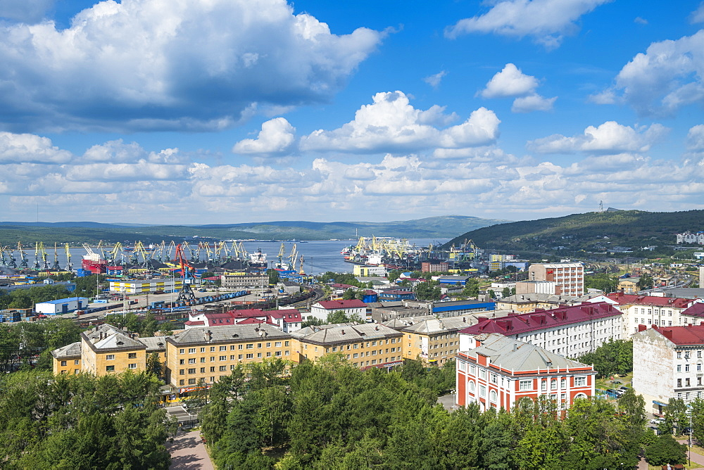 View over Murmansk, Russia, Europe