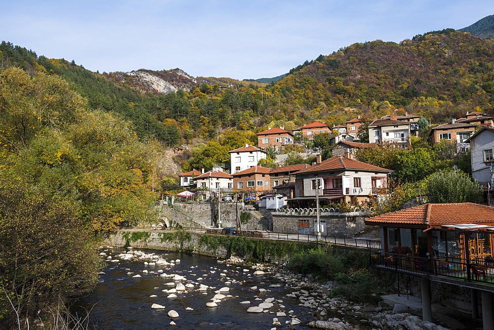 The village of Bachkovo, Bachkovo Monastery, Rhodope mountains, Bulgaria, Europe