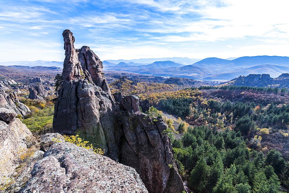 Kaleto Rock Fortress, overlook over the rock formations, Belogradchik, Bulgaria