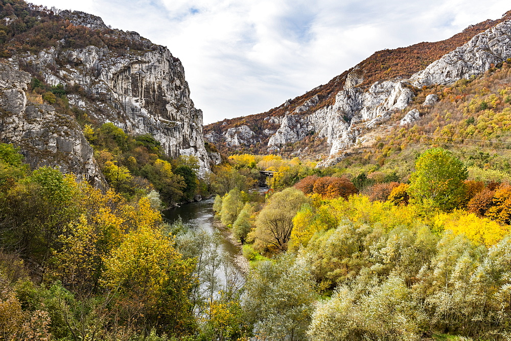 Beautiful autumn colours in the Iskar Gorge, Bulgaria, Europe