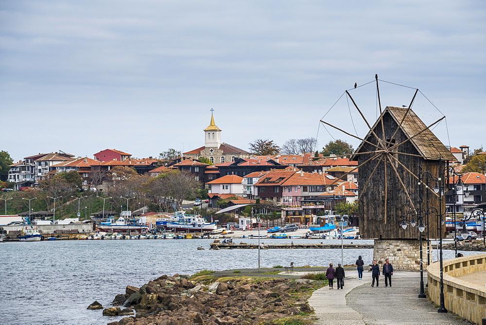 Windmill, Nessebar, UNESCO World Heritage Site, Bulgaria, Europe
