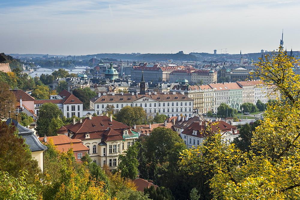 View over Prague from Prague castle, Prague, Czech Republic, Europe