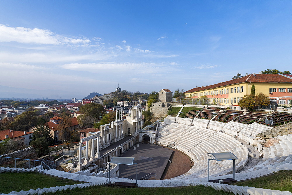 Roman theatre of ancient Philippopolis, Plovdiv, Bulgaria, Europe