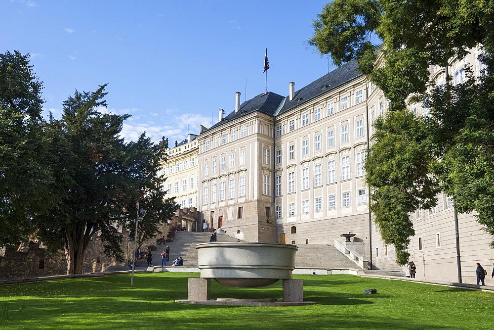 Palace gardens of the Prague castle, UNESCO World Heritage Site, Prague, Czech Republic, Europe
