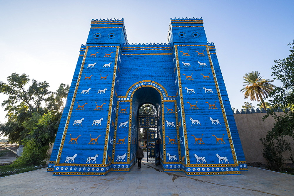 Reconstructed Ishtar Gate, Babylon, Iraq, Middle East