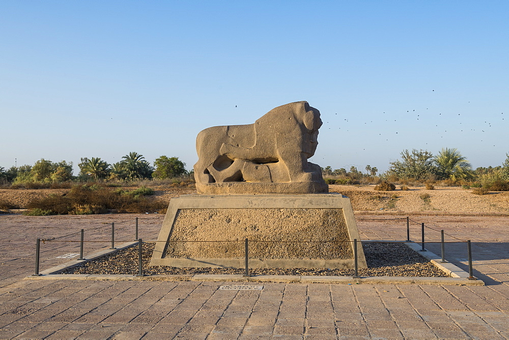 The lion of Babylon, Babylon, Iraq, Middle East