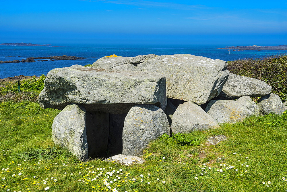Le Trepid dolmen, Guernsey, Channel Islands, United Kingdom, Europe
