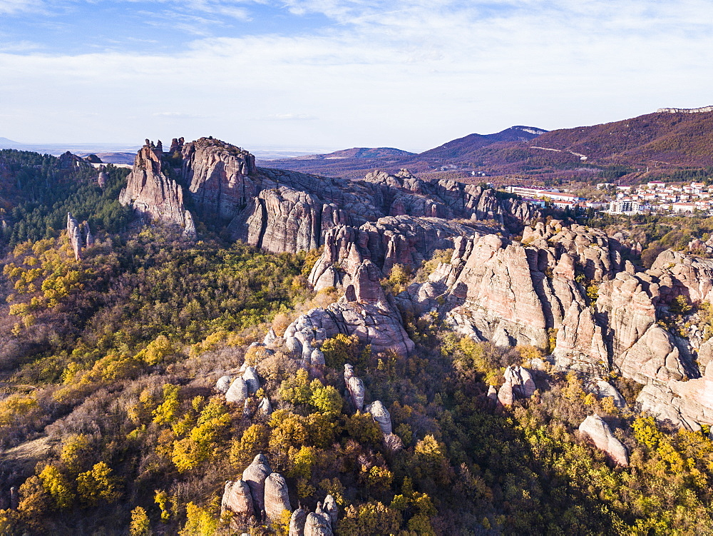 Aerial of Belogradchik fortress, Belogradchik, Bulgaria, Europe