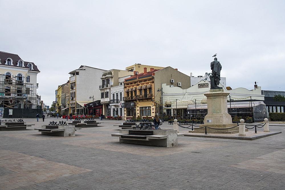The pedestrian zone of Constanta, Romania - 1184-3020
