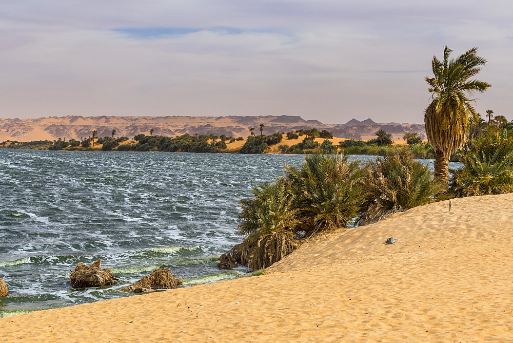 Ounianga sebir part of the the Unesco sight Ounianga lakes, northern Chad, Africa - 1184-3089