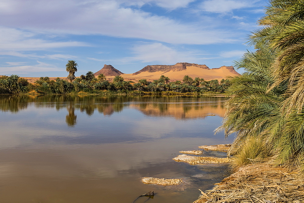 Salt water lake in Northern Chad, Africa