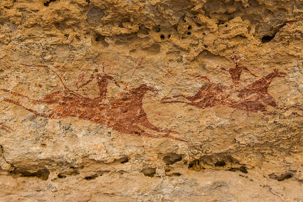 Rock painting, Ennedi Plateau, UNESCO World Heritage Site, Ennedi region, Chad, Africa