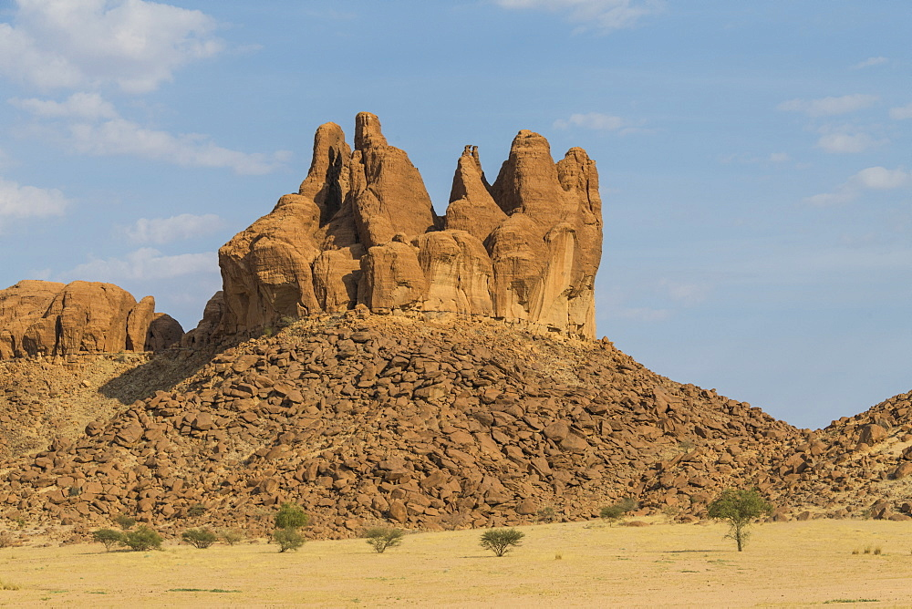 Rock formations in the Unesco world heritage, Ennedi plateau, Chad, Africa - 1184-3116