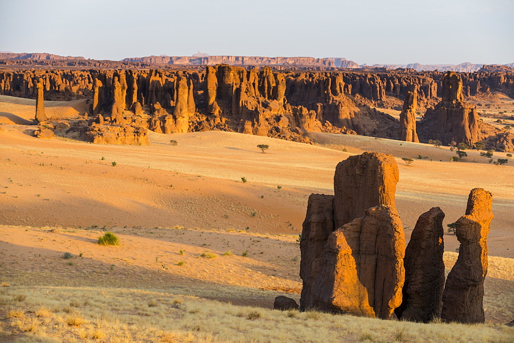 Overlook over the beautiful scenery of the Unesco world heritage, Ennedi plateau, Chad, Africa - 1184-3128