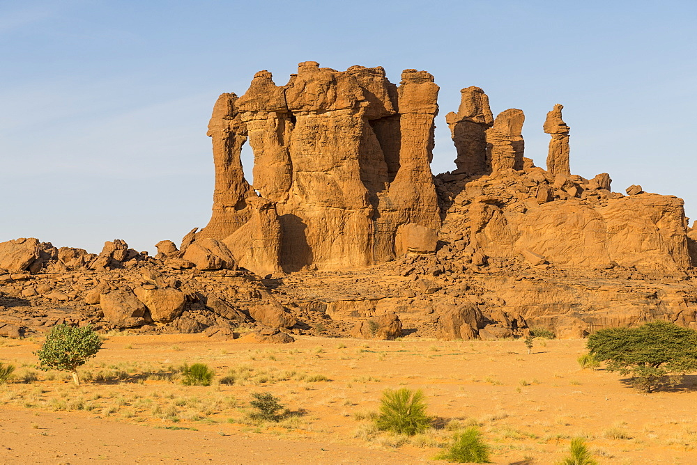 Beautiful rock formations in the Unesco world heritage, Ennedi plateau, Chad, Africa - 1184-3130