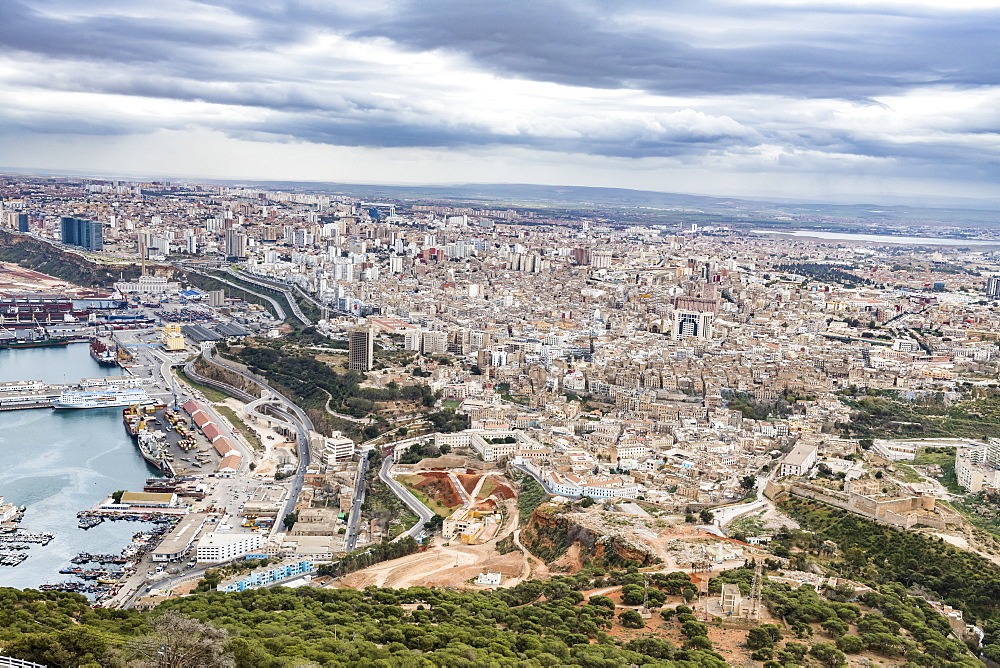 View over Oran, Algeria, North Africa, Africa