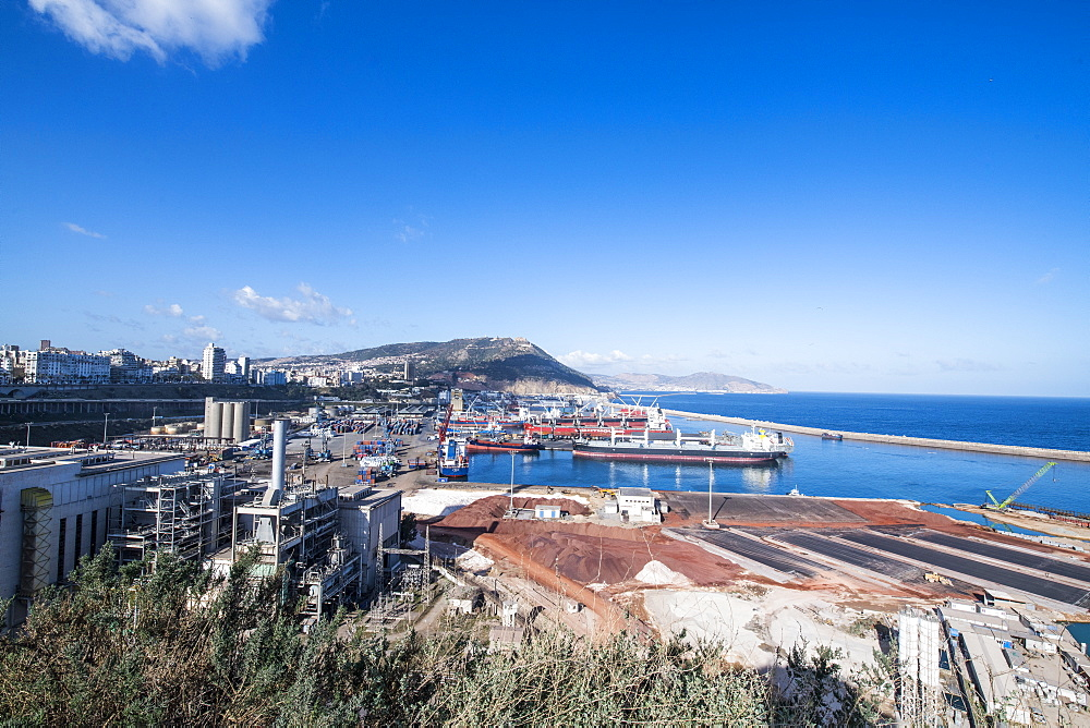 View over the harbour of Oran, Algeria, North Africa, Africa