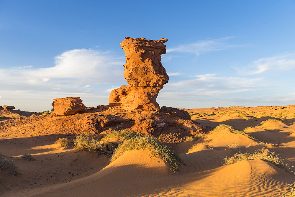Sunset in the Sahara near Timimoun, western Algeria, North Africa, Africa