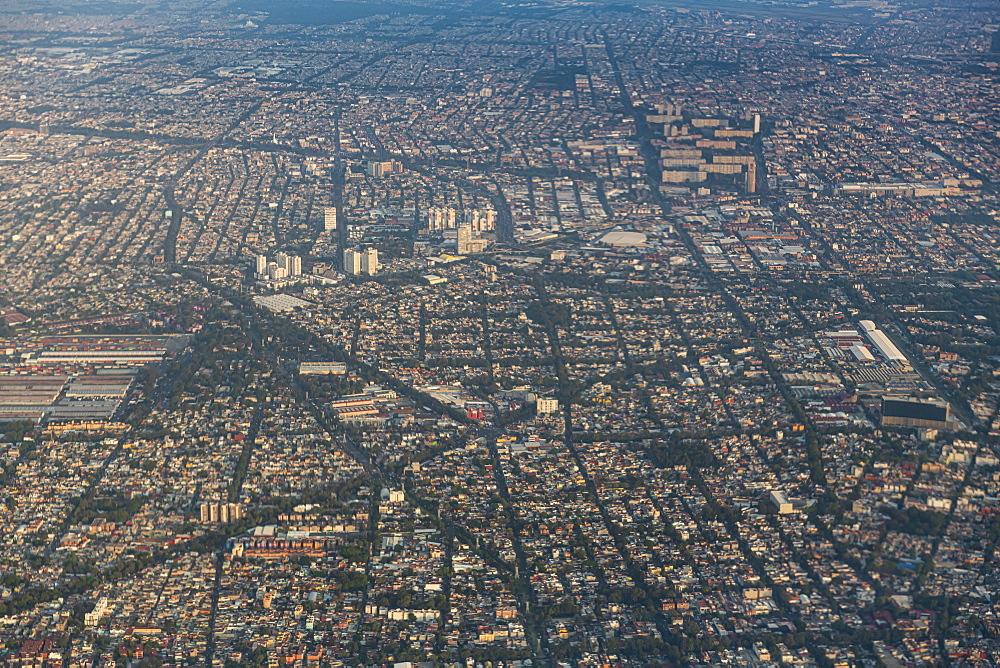 Aerial of Mexico City, Mexico