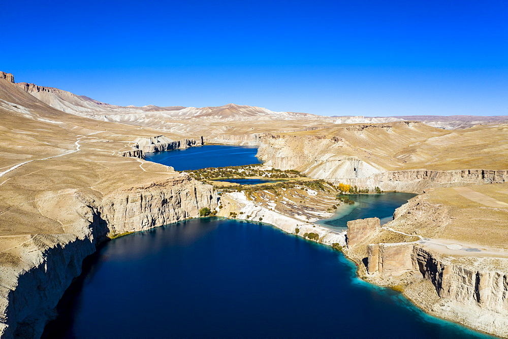 Snow capped mountain scenery at sunset in the Unesco National Park, Band-E-Amir National Park, Afghanistan - 1184-3458