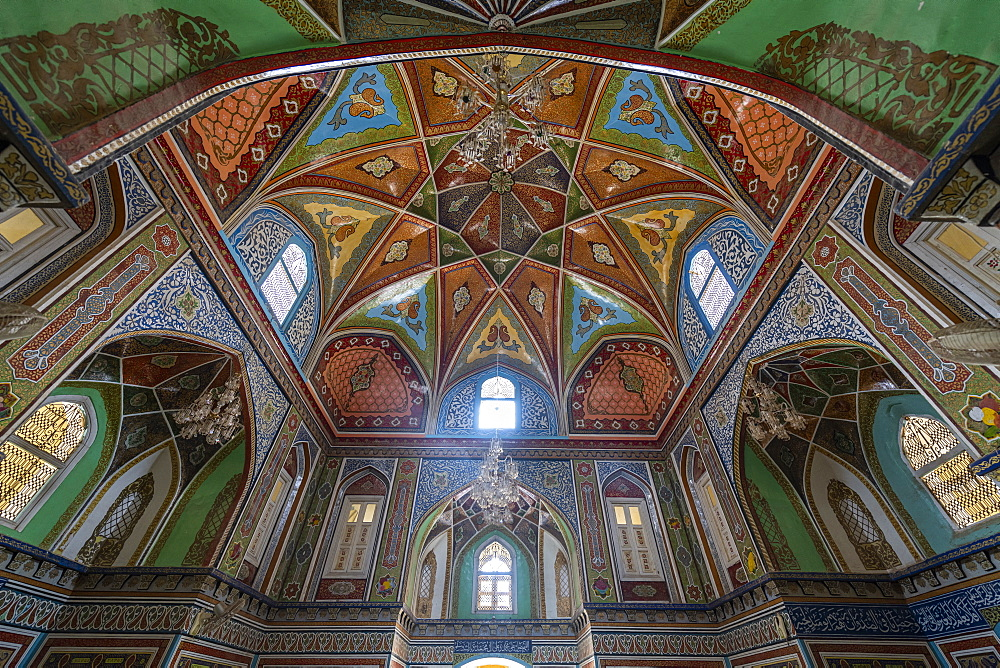 Beautiful interior of the Mausoleum of Mirwais Khan Hotaki, Kandahar, Afghanistan, Asia