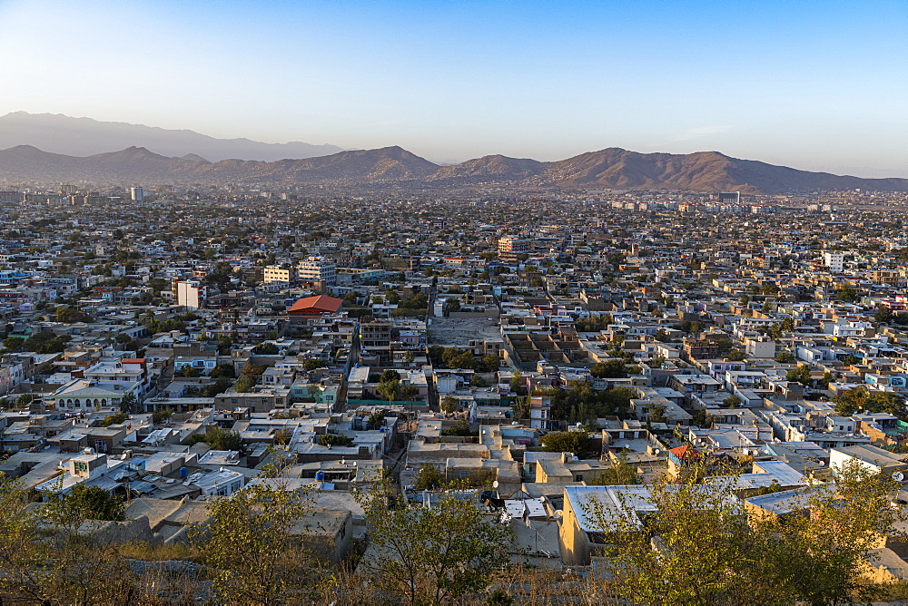 Overlook over Kabul at sunset, Afghanistan - 1184-3524