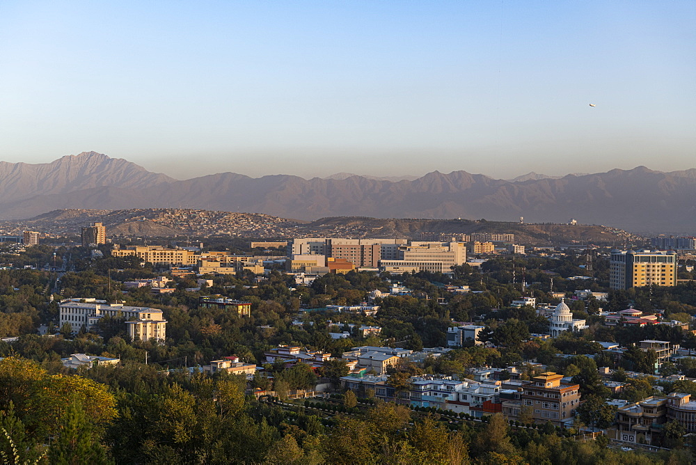 Overlook over Kabul at sunset, Afghanistan