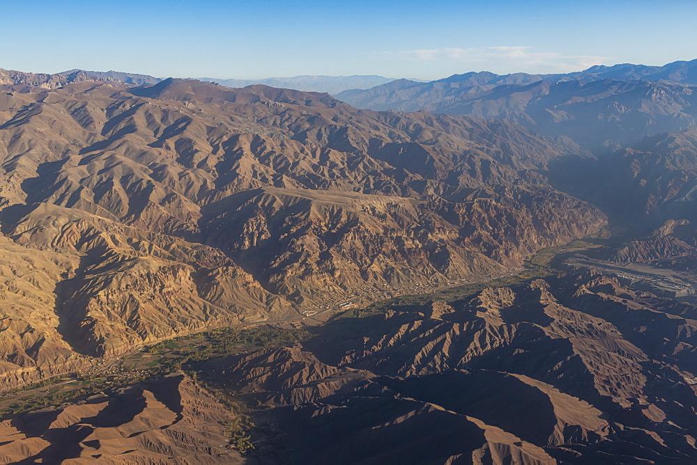 Aerial of Afghanistan around Bamyan - 1184-3531