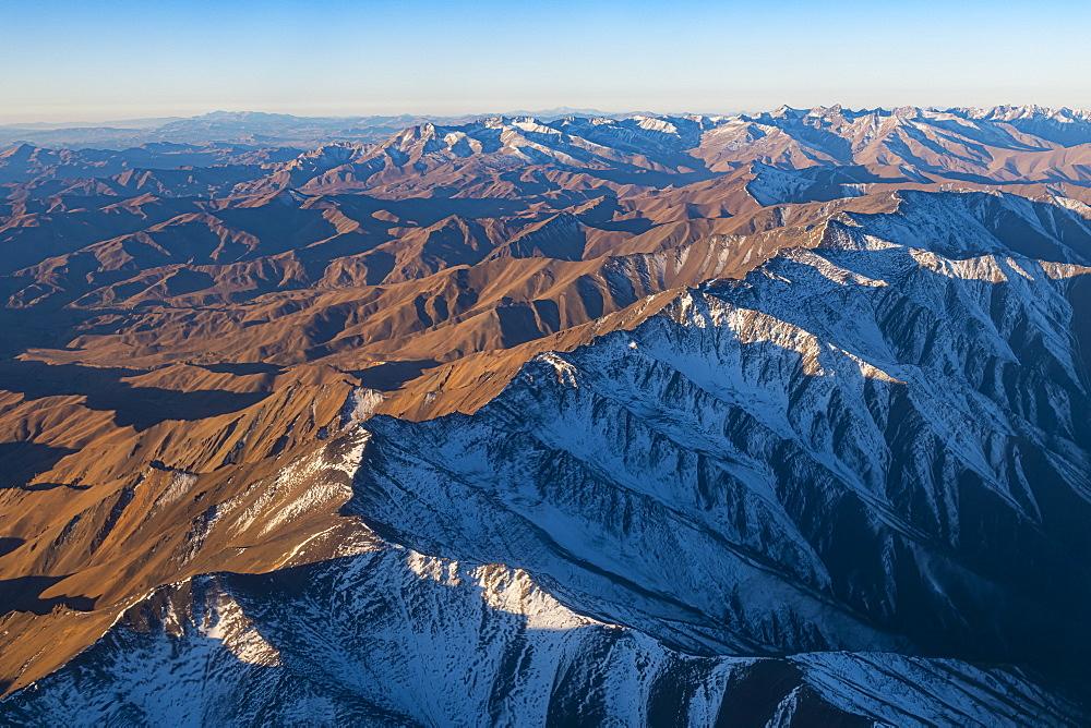 Aerial of Afghanistan around Bamyan - 1184-3533