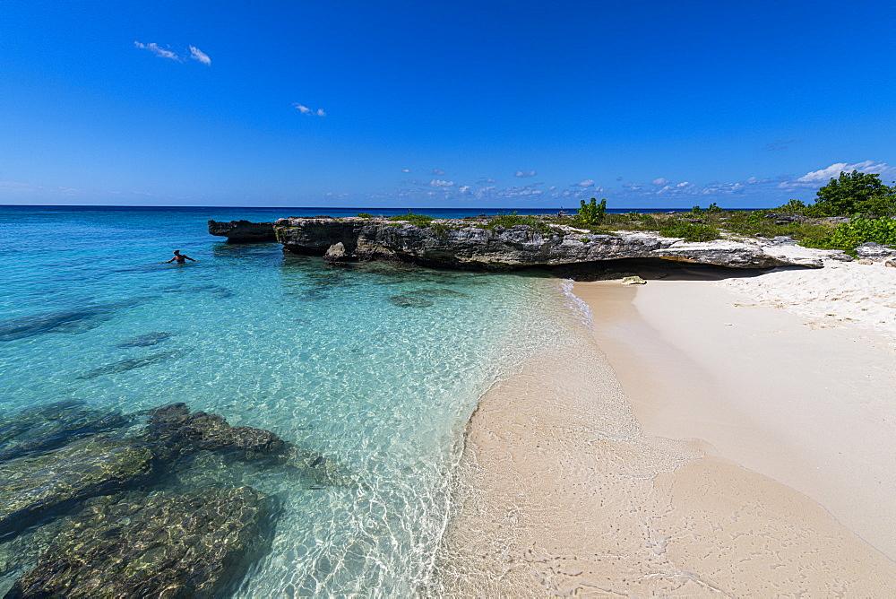 Smith's Barcadere sandy cove, Grand Cayman, Cayman Islands, Caribbean, Central America