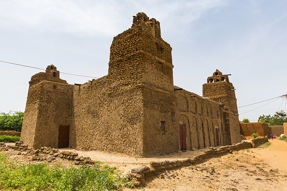 Hausa style architecture Mosque in Yaama, Niger, West Africa, Africa