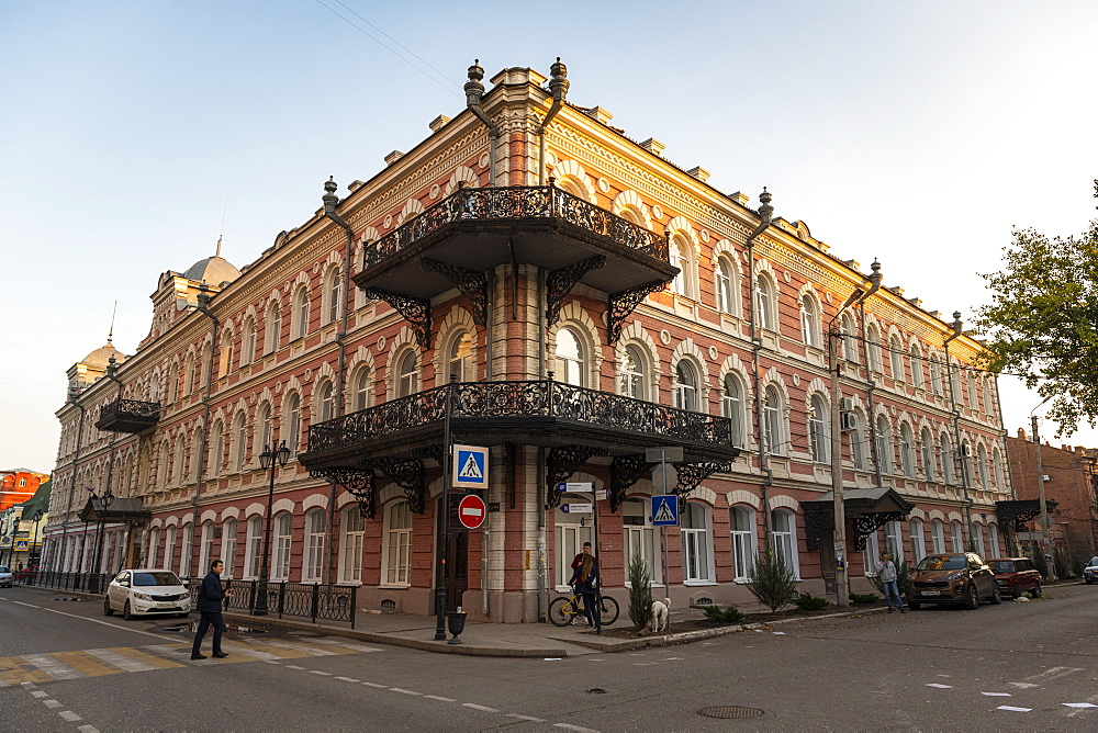 Historic buildings in the old town of Astrakhan, Astrakhan Oblast, Russia