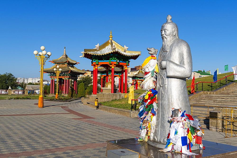 The golden temple Burkhan Bakshin Altan Sume, Elista, Republic of Kalmykia, Russia