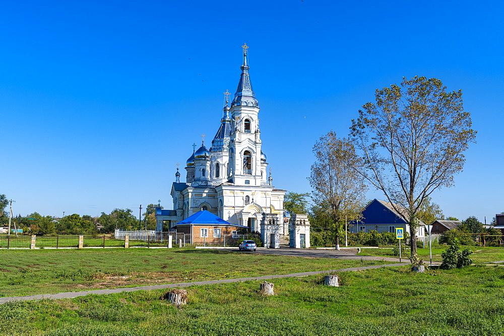 Little beautiful church near Rostov-on-Don, Rostov Oblast, Russia