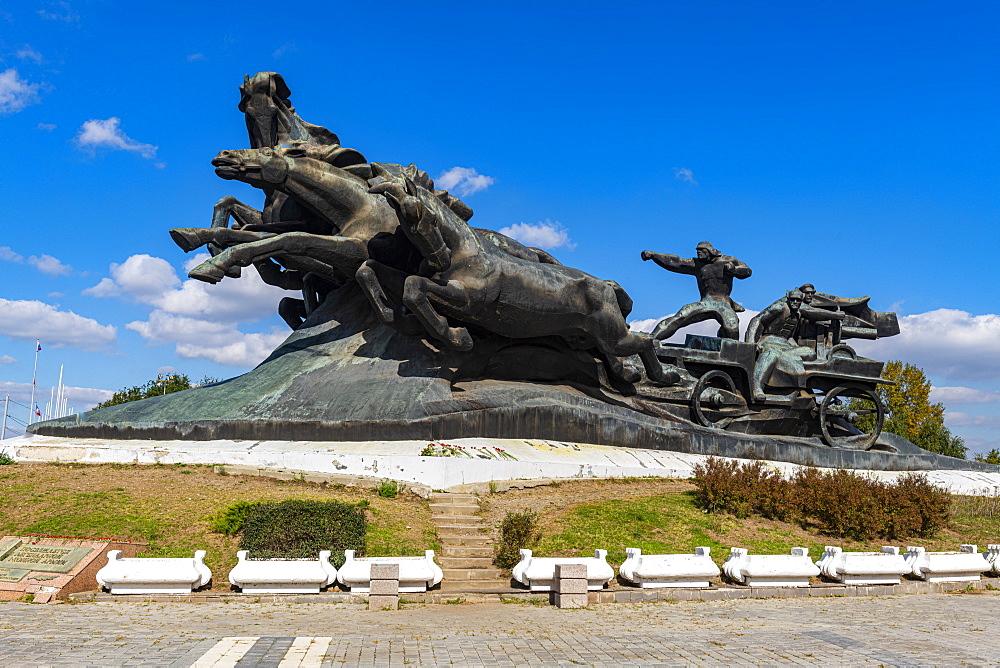 Tachanka monument, Rostov-on-Don, Rostov Oblast, Russia