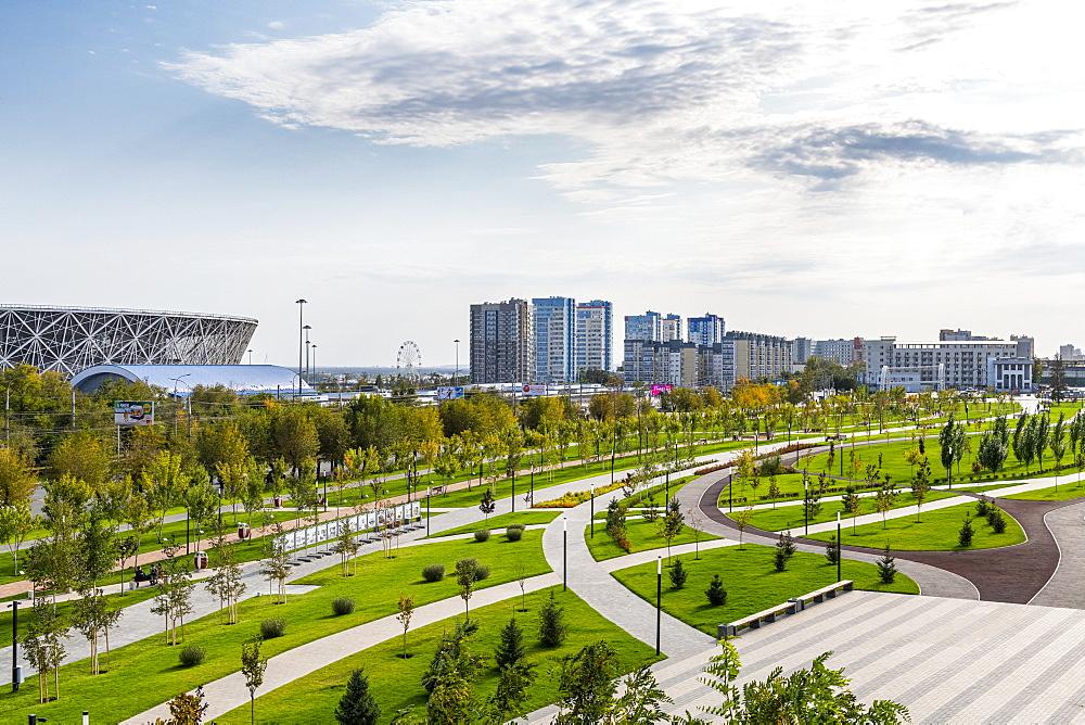 Volgograd arena and Mamayev Kurgan, Volgograd, Volgograd Oblast, Russia