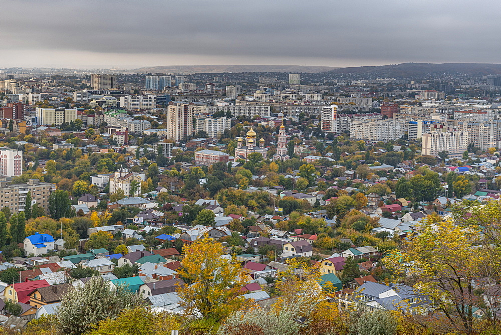 Overlook over Saratov from the Sokolovaya Gorapark, Saratov, Saratov Oblast, Russia
