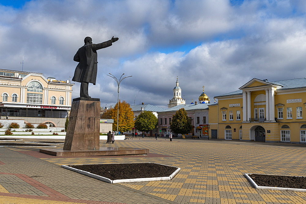 Lenin statue in Yelets, Lipetsk Oblast, Russia