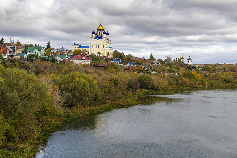 Yelets cathedral overlooking the Bystraya Sosna river, Yelets, Lipetsk Oblast, Russia - 1184-3714