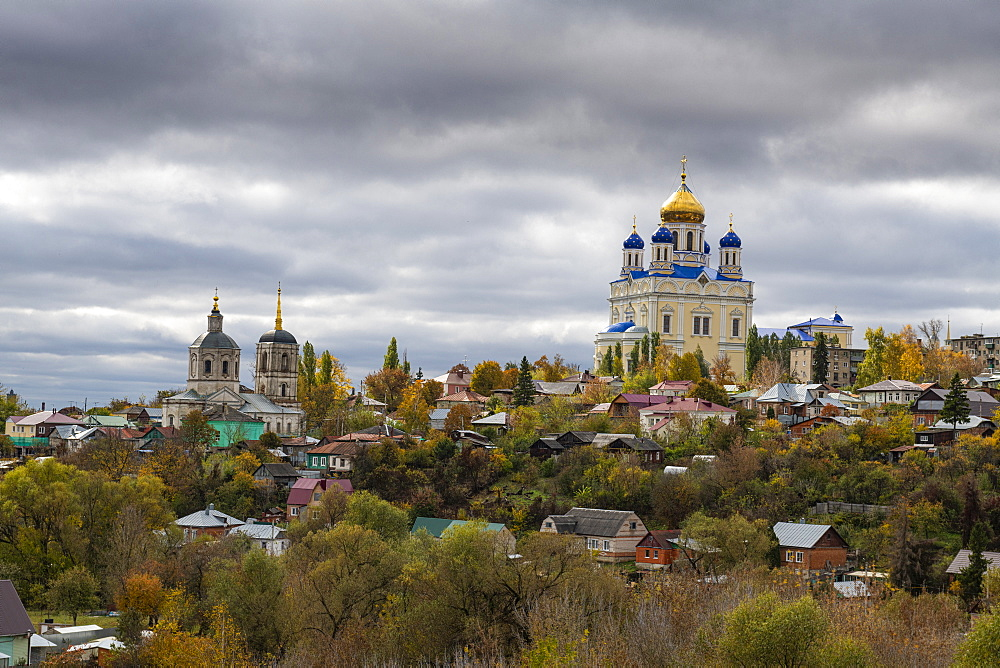 Yelets cathedral overlooking the Bystraya Sosna river, Yelets, Lipetsk Oblast, Russia