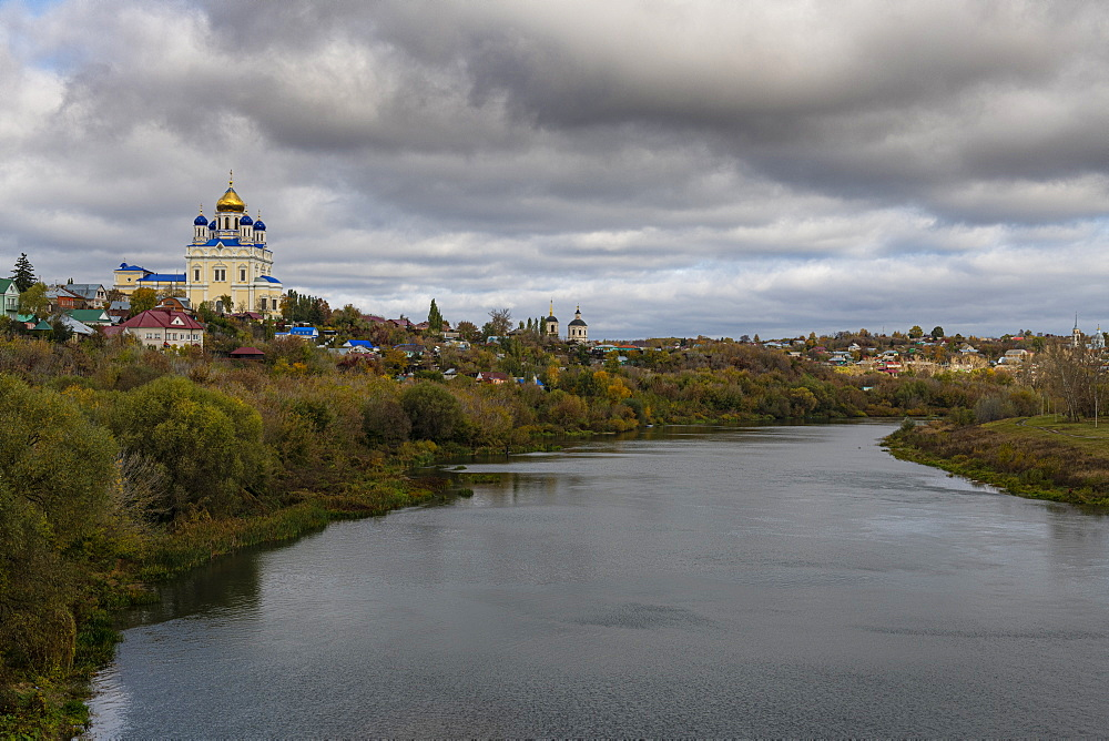 Yelets cathedral overlooking the Bystraya Sosna river, Yelets, Lipetsk Oblast, Russia - 1184-3732