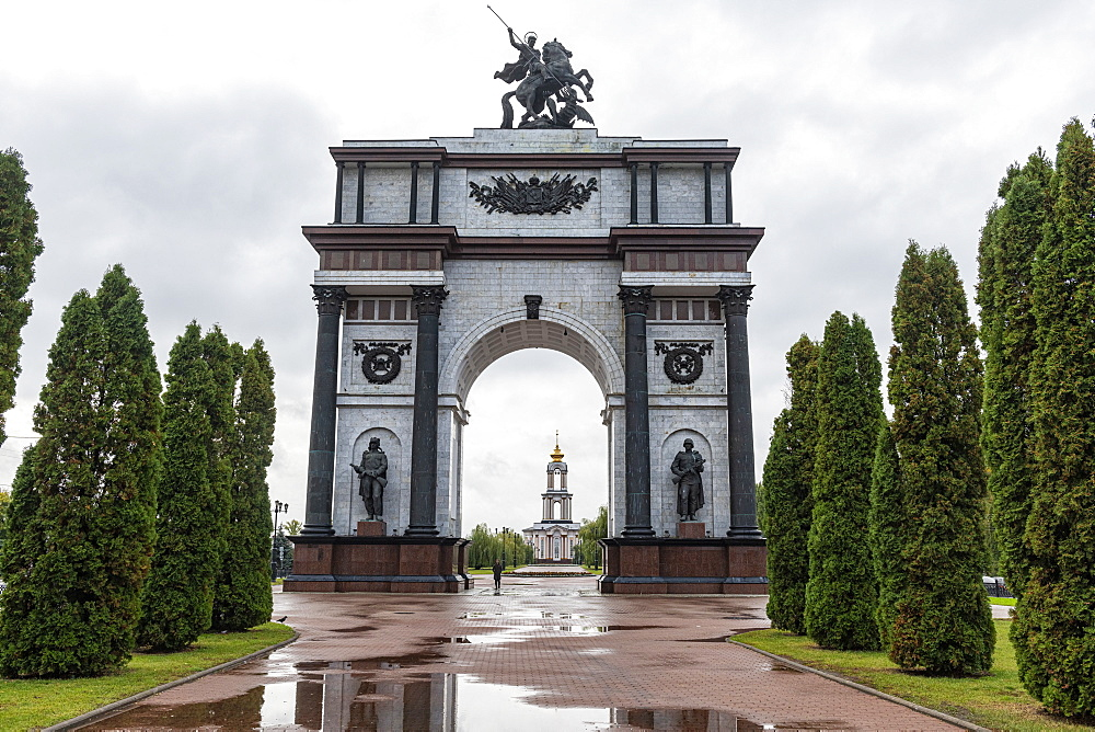 Triumph arch on a long promenade in Kursk, Kursk Oblast, Russia - 1184-3739