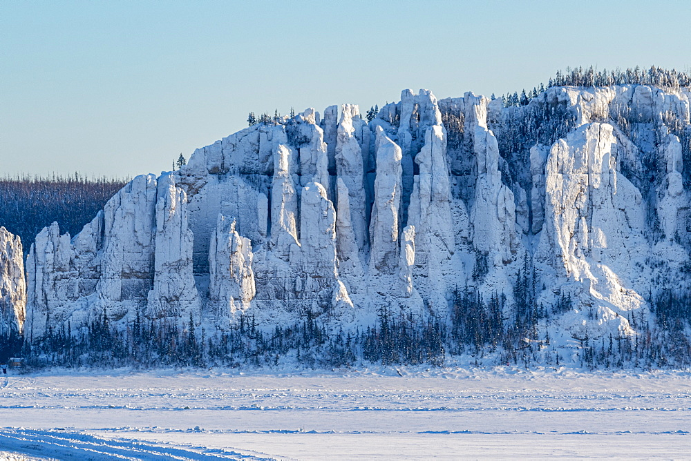 Lena Pillars at the Lena river, UNESCO World Heritage Site, Sakha Republic (Yakutia), Russia, Eurasia