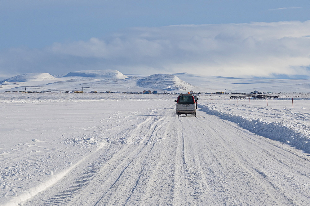 Ice road over the Anadyrsky Liman, Anadyr, easternmost city in Russia, Chukotka autonomous Okrug, Russia - 1184-3773