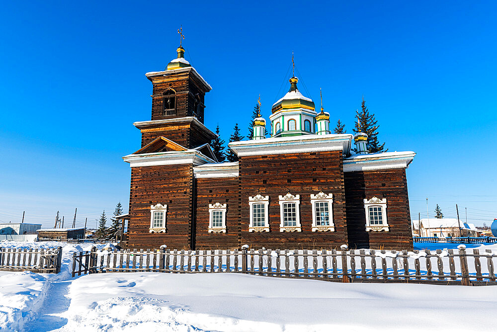 Wooden church, Cherkekhskiy regional museum, Road of Bones, Sakha Republic, Yakutia, Russia - 1184-3782