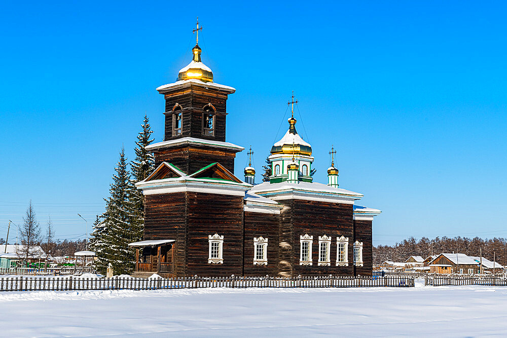 Wooden church, Cherkekhskiy regional museum, Road of Bones, Sakha Republic, Yakutia, Russia - 1184-3785